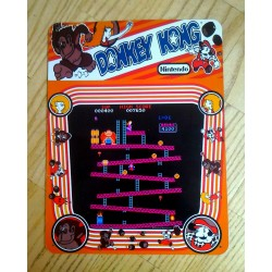 Placa de metal donkey kong