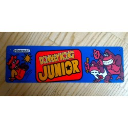 Placa de metal donkey kong jr.