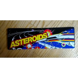Placa de metal asteroids
