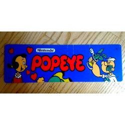 Placa de metal popeye